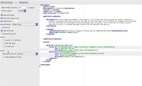 format html phpstorm how can i stop phpstorm to insert linebreaks between xml