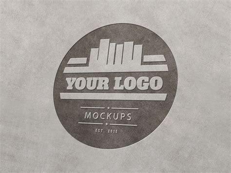 engraving logo metal engraved logo mockup