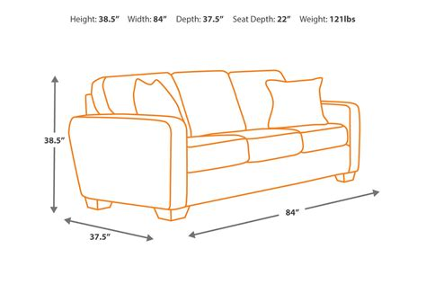 minimum couch width alenya charcoal sofa signature design by ashley furniture