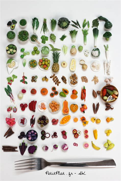 vegetables 100 pics 100 days of miniature fruit and vegetables by petitplat on