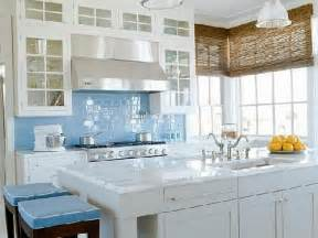 Blue Backsplash Kitchen Kitchen Angelic Blue Backsplash Decoration Idea White Eminent Glass Mosaic Tiles With White