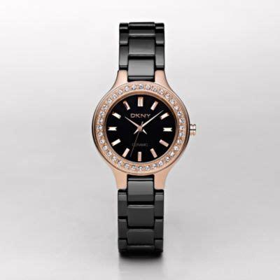 Dkny Dk034 Black Rosegold dkny gold tone glitz black ceramic ny4981 watchstation 174 store