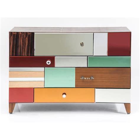 commode chambre design commode design bois et miroir couleur achat vente