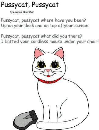 Rhyme Desk Poem Pussycat Pussycat By Leanne Guenther