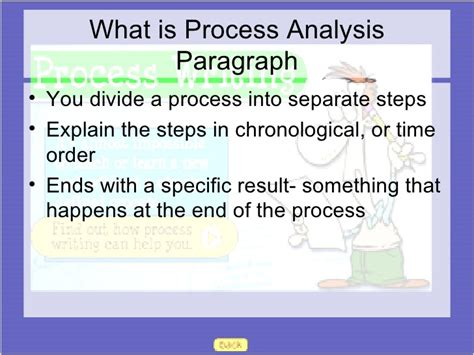 Process Analysis Paragraph by Process Analysis Paragraphs