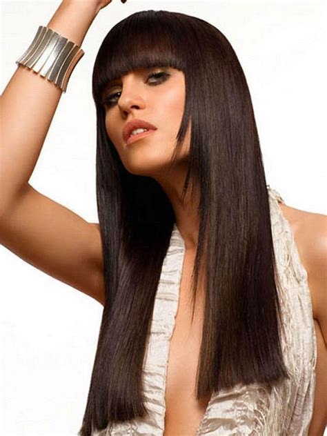 3 layer blunt cut hair style photo long layered hair blunt bangs the latest trends in women