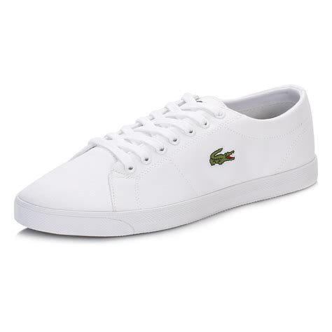 Ransel Lacoste Classic 115 1 lacoste mens white marcel lcr2 canvas trainers casual comfort style shoes ebay