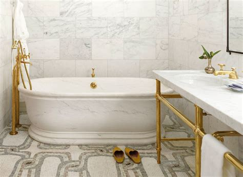 Hotel Bathroom Fixtures 18 Gorgeous Marble Bathrooms With Brass Gold Fixtures