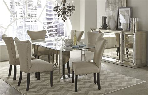 big rectangle modern mirorr dining table buy rectangle
