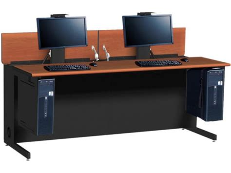 flex insight double computer desk 72 quot w x 30 quot d training