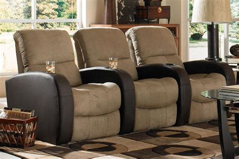 seatcraft home theater seating 3 seats power