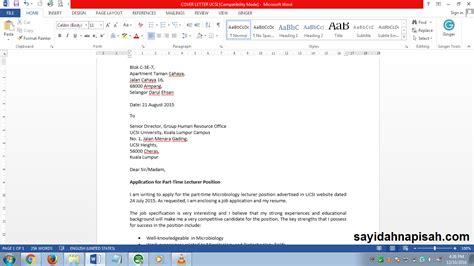 cover letter contohnya pengalaman praktikal di bank rakyat seremban sayidahnapisahdotcom