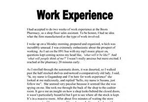 Work Experience Report Template Working Experience Essay Www Rstudio Co