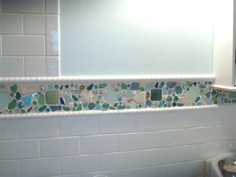 sea glass bathroom ideas sea glass tile backsplash tile design ideas