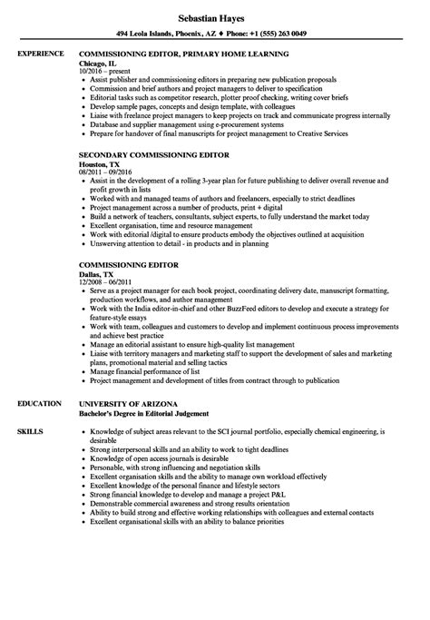 Commissioning Editor Sle Resume by Commissioning Sle Resume Rent Receipt Template Microsoft Word