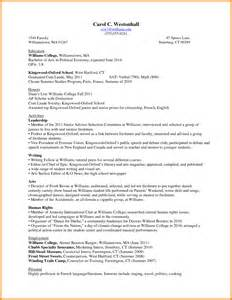 Resume Exles For College Freshmen by Resume For College Freshmen Berathen