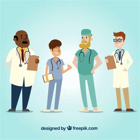 imagenes animadas de doctores conjunto con estilo de doctores de dibujos animados