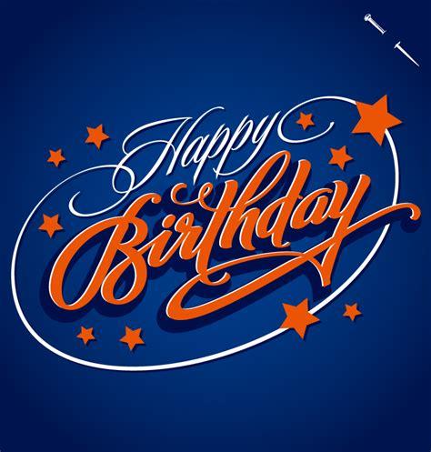 Happy Birthday Star Design | star happy birthday fonts design vector free vector
