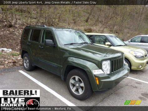 2008 Jeep Liberty Green Jeep Green Metallic 2008 Jeep Liberty Sport 4x4 Pastel