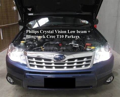 Lu Philips Crystalvision H4 4300k Bright White Original philips h4 vision 4300k white halogen bulb blingwork automotive lighting