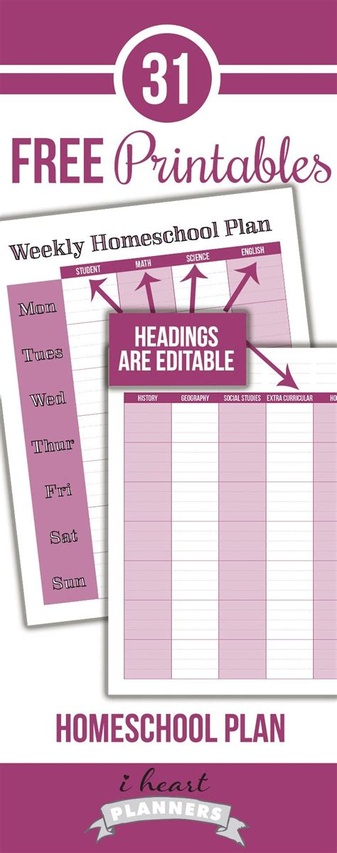 the happy homeschooler our homeschool planner a free 3850 best planners printables images on pinterest