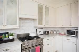 Mirrored Kitchen Cabinets Antiqued Mirrored Kitchen Cabinet Doors Transitional Kitchen