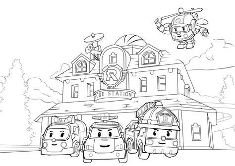 Robocar Poli Car Park giocattoli personaggi di robocar poli disegni da