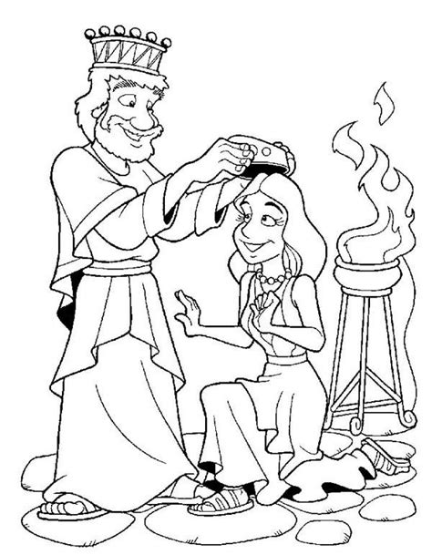 esther coloring pages esther become king ahasuerus coloring page the