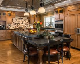 Eat In Kitchen Island Designs Table Height Island Home Design Ideas Pictures Remodel