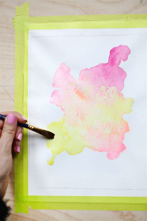 watercolor diy watercolor phrase diy a beautiful mess