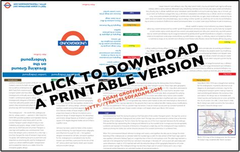 printable version of london tube map a graphic design history of the london underground