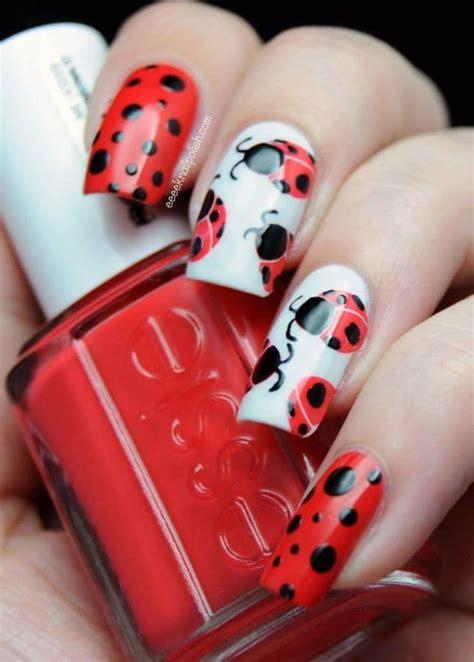easy nail art ladybug wedding nail designs lady bug nail art 2045414 weddbook