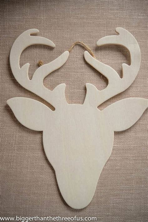 pattern for white wooden reindeer diy reindeer and succulent ornament