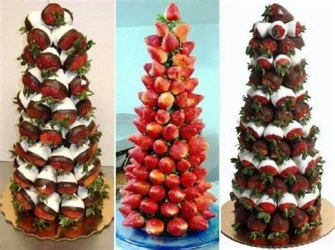 strawberry christmas tree recipes i like pinterest