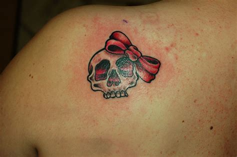 skull bow tattoo designs 20 skull tattoos for design ideas magment