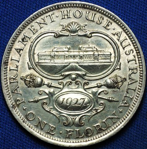 House Of Coins by 1927 Commemorative Australian Florin Parliament House