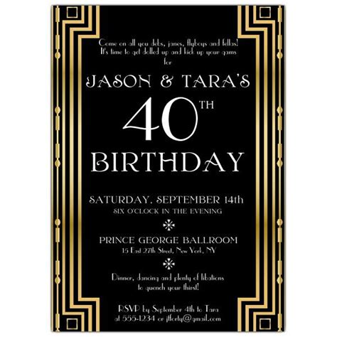 18 Best Images About Jason S Bday On Pinterest Chalkboard Designs Black Gold And Birthday Photos Nights Invitation Template