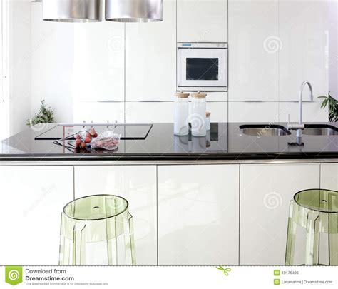 Www Kitchen Interior Design Photo Modern White Kitchen Clean Interior Design Royalty Free Stock Images Image 18176409