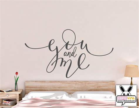 testo you and me adhesivo de vinilo para la decoraci 243 n de paredes quot you and