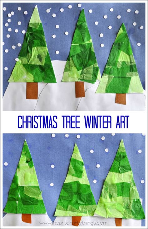 christmas tree winter art i heart crafty things