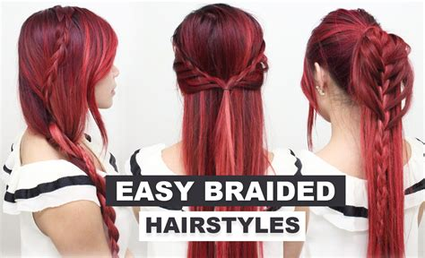 Easy Braided Hairstyles For School by 10 Back To School Hairstyles L Easy Hairstyles For