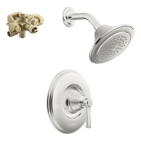 Moen Adler Shower by Moen Adler 2 Spray 1 Handle Shower Only Faucet With Valve In Chrome L82691 The Home Depot