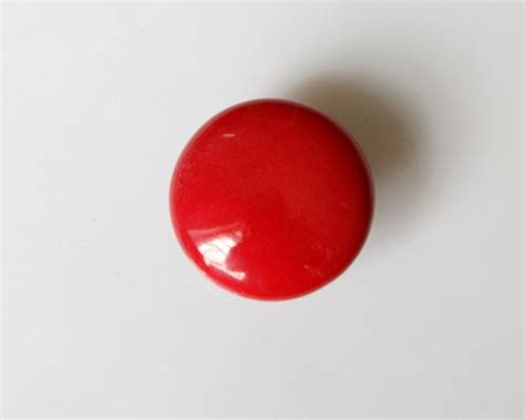 kitchen cabinet knobs handle pulls red color ceramic