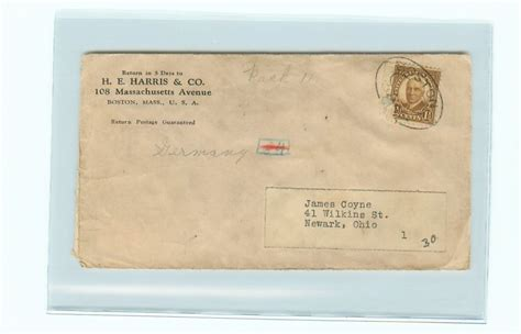 Brief Schweiz Usa Dauer I0638 Usa Alter Briefumschlag Ab Boston Mass Ca 1910 Ebay