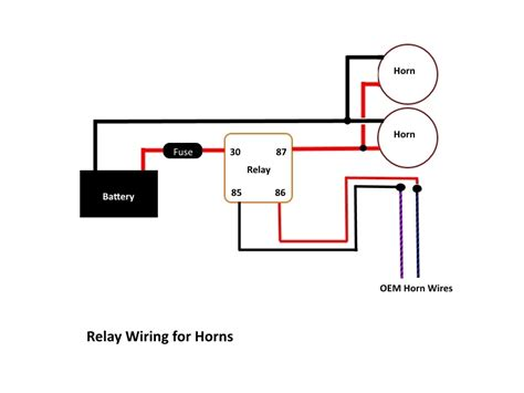 horn wolo wiring diagram with relay 2 horns wolo hs 2