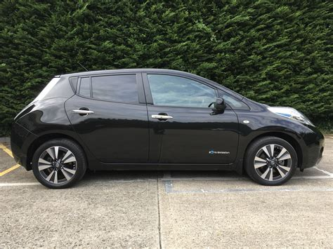 leaf nissan black nissan leaf tekna black electric hybrid car specialists
