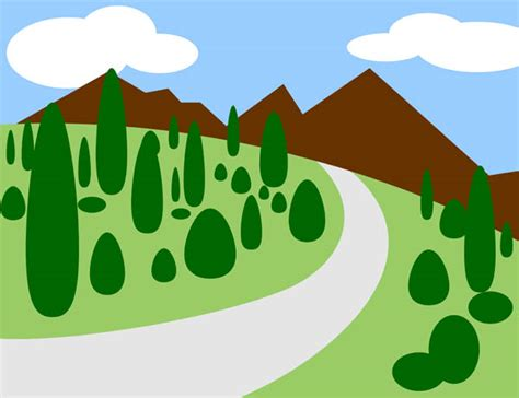 mountain clipart mountain road clipart 12