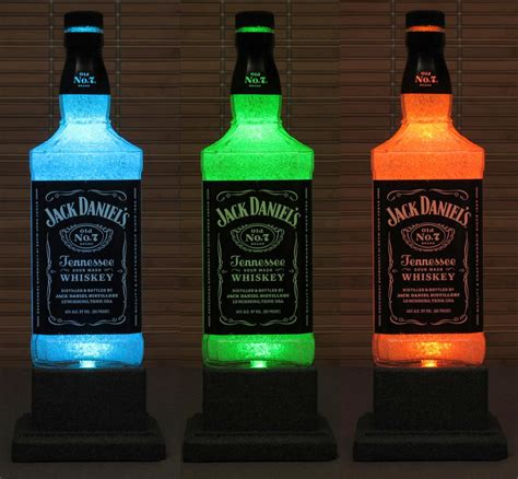 chagne bottle jack daniels whiskey color changing caves jack o