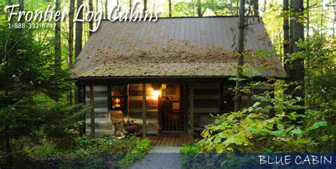 Cabins In Hocking by Blue Cabin By Frontier Log Cabins Located In Hocking