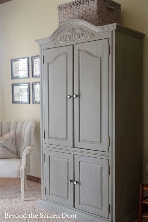 painted computer armoire painted armoire using 4 different dixie bell paints